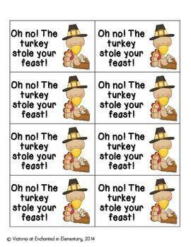 Thanksgiving Feast Phonics: Short I Pack