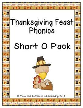 Thanksgiving Feast Phonics: Short O Pack