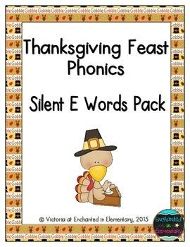 Thanksgiving Feast Phonics: Silent E Words Pack