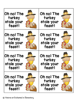 Thanksgiving Feast Phonics: Vowel Digraphs and Diphthongs Pack 1: ow, ou, oo, ew