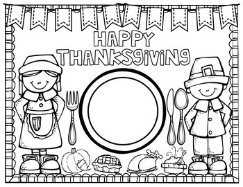 FREEBIE Thanksgiving Feast Placemats
