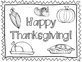 Thanksgiving Feast Placemats