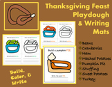Thanksgiving Feast Playdough and Writing Mats