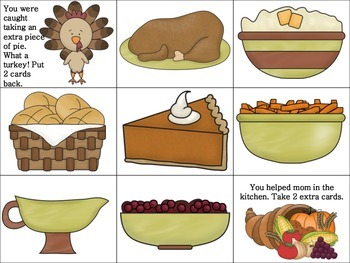 Thanksgiving Feast Reinforcer (for use with any speech/lan