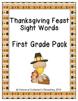 Thanksgiving Feast Sight Words! First Grade Dolch List