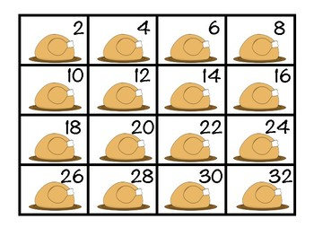 Thanksgiving Feast Skip Counting