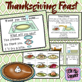 Thanksgiving Feast Social Story and Activities on Manners