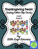 Thanksgiving Feast Turkey Color Clip Cards