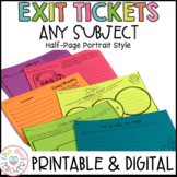 Exit Tickets | Exit Slips Printable & Digital | Google