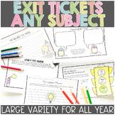 Exit Tickets   Exit Slips Printable & Digital   Google