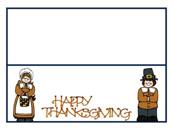 Thanksgiving Feast place-cards or center name cards