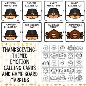 Thanksgiving Feelings Bingo Game - Elementary School Counseling