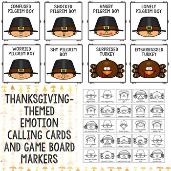Thanksgiving Feelings Bingo Counseling Game for Elementary School Counseling