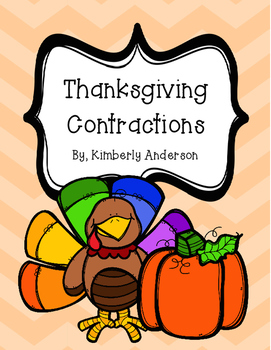Thanksgiving Festive Contractions Match