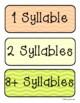 Thanksgiving Festive Syllable Sort (1 Syllable / 2 Syllabl