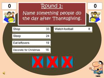 Thanksgiving Feud Powerpoint Game