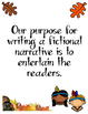 Thanksgiving Fictional Narrative Writing