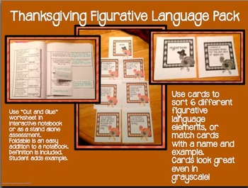 Thanksgiving Figurative Language Pack