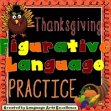 Thanksgiving Figurative Language Practice