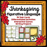 Thanksgiving Figurative Language Games and Creative Writing Projects