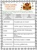 Thanksgiving Figurative Language Worksheet, November, Middle School