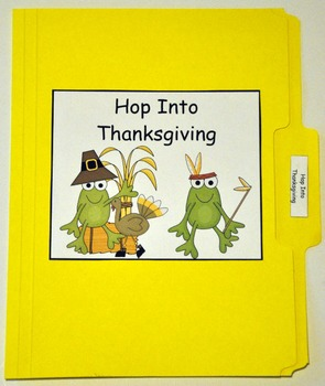"Thanksgiving File Folder Game:  ""Hop Into Thanksgiving"""