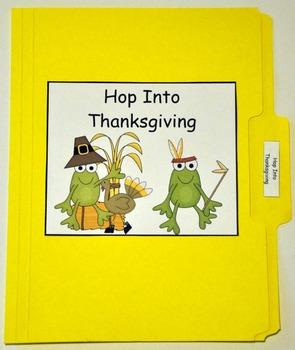 "Thanksgiving File Folder Game:  ""Hop Into Thanksgiving"""