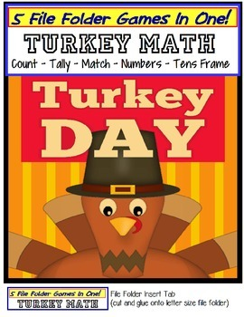 Thanksgiving File Folder Games (5 Games In One!)