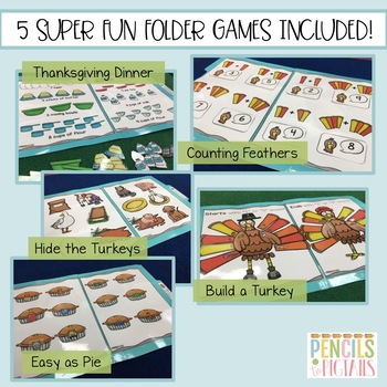 Thanksgiving File Folder Games - Morning Work, Centers, Small Group & More!