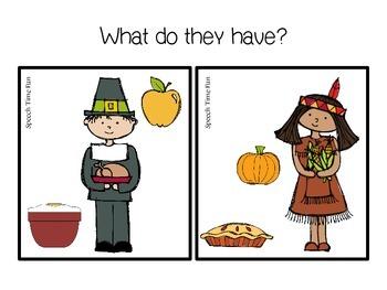 Thanksgiving File Folder Language Activities