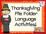 Thanksgiving File Folder Language Activities
