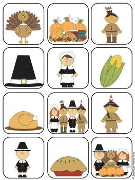 Thanksgiving File Folder Matching Game