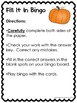 Thanksgiving Fill It In Bingo 3-digit Addition and Subtraction