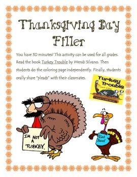 Thanksgiving Filler Activity