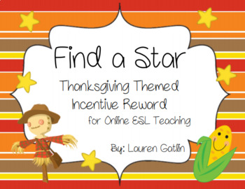 Thanksgiving Find A Star Reward System for    by Texan School Belle