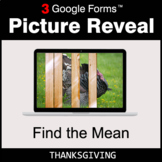Thanksgiving: Find the Mean - Google Forms Math Game | Dis