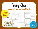 Thanksgiving Finding the Slope of a Given a Graph or Two points
