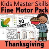 Thanksgiving Fine Motor Activities Pack - (With Math and S