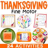 Thanksgiving Fine Motor Activities Preschool Centers, Work Tubs, Worksheets