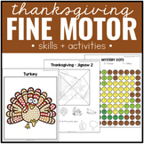 Thanksgiving Fine Motor Practice Skills and Activities