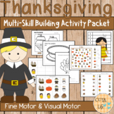 Thanksgiving Fine Motor and Visual Motor Skills Packet