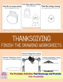Thanksgiving Finish The Drawing Worksheets