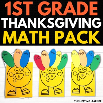 Thanksgiving First Grade Math Puzzles