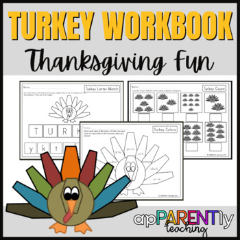 Thanksgiving Worksheets for Kindergarten and First Grade- NO PREP PACKET