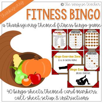 Thanksgiving Fitness Bingo