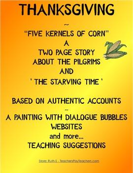 Thanksgiving Five Kernels of Corn Activities