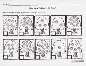 """Thanksgiving: """"Five Little Turkeys"""" Math, Poetry and Art"""