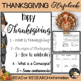 Thanksgiving Activities Informational Text Flapbook