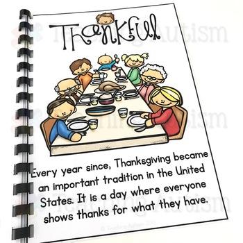 Thanksgiving Flashcard Story