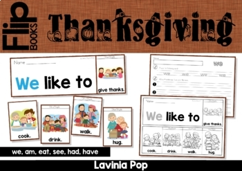 Thanksgiving Fluency Flip Book & Writing Prompt {FREE}